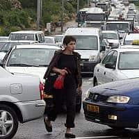 עוד יום רגיל בכבישי ישראל (צילום: אוראל כהן)