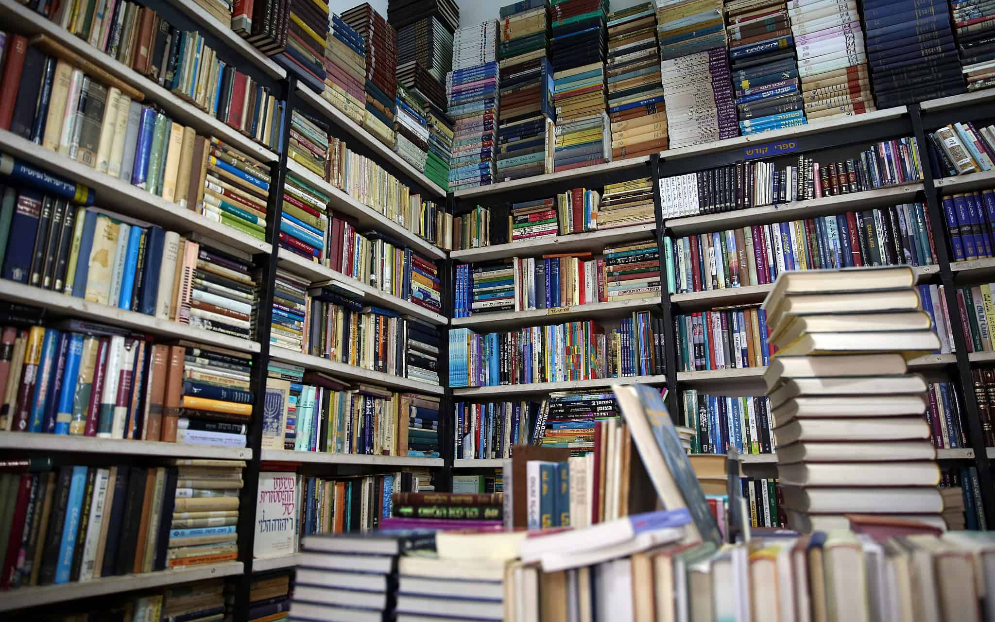 חנות ספרים (צילום: דוד כהן/פלאש90)
