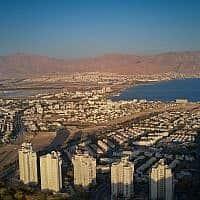 תצפית אווירית על העיר אילת (צילום: Menachem Lederman/Flash90)