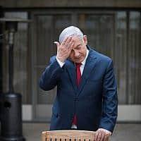 בנימין נתניהו במשכן ראש הממשלה (צילום: הדס פרוש/פלאש90)