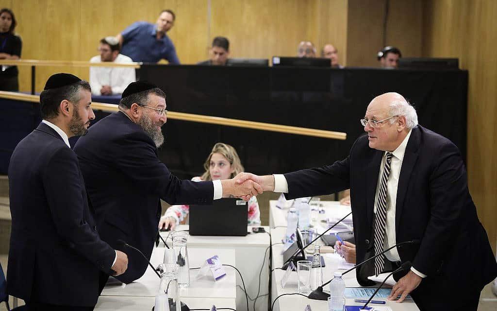 ש״ס מגישה את רשימתה לועדת הבחירות המרכזית לכנסת ה-22 (צילום: נועם רבקין פנטון/פלאש90)