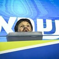 בצלאל סמוטריץ׳ בכנס השקת קמפיין ימינה (צילום: פלאש90)