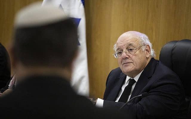 יו״ר ועדת הבחירות המרכזית, השופט חנן מלצר (צילום: הדס פרוש/פלאש90)