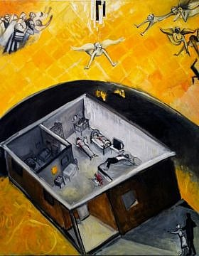 טבח משפחת פוגל ביישוב איתמר, 2011, ציור: ריצ'רד מקבי