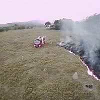 שריפות באמזונס (צילום: Corpo de Bombeiros de Mato Grosso via AP)