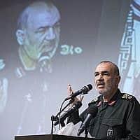 מפקד משמרות המהפכה, חוסיין סלאמי (צילום: Sepahnews via AP)
