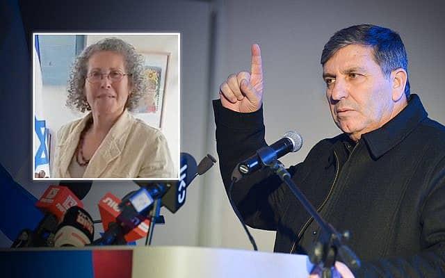 יו״ר קק״ל דני עטר. תמונה פנימית: השופטת בדימוס נחמה מוניץ (צילום: פלאש90/צילום מסך)