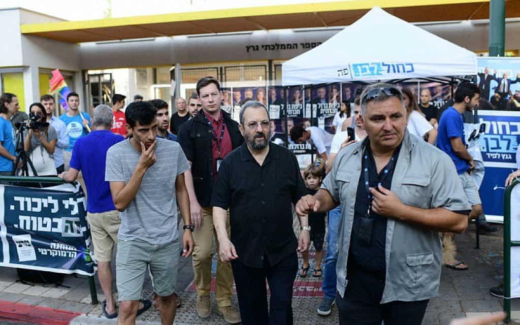 ברק מצביע בתל אביב (צילום: תומר נויברג / פלאש 90)