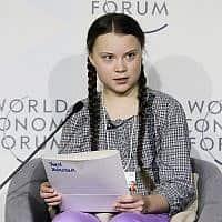 גרטה ת'אנברג (צילום: AP Photo/Markus Schreiber,)