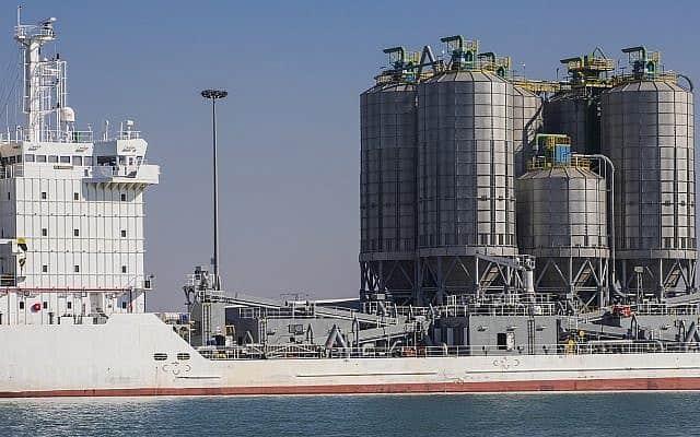 מסוף ייבוא מלט של חברת סימנט במספנות ישראל, במפרץ חיפה