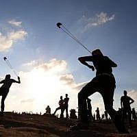 הפגנות על הגדר ברצועת עזה, ב-13 בספטמבר. 8,000 מפגינים התקבצו שם היום (צילום: חסן ג'די / פלאש 90)