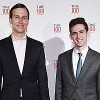 אבי ברקוביץ', מימין, עם ג'ארד קושנר בפסגת טיים 100 בניו יורק, 23 באפריל 2019 (צילום: Craig Barritt/Getty Images עבור TIME)