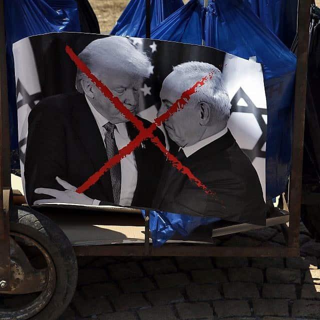 מחאה נגד נתניהו וטראמפ בלבנון, 2019 (צילום: AP Photo/Bilal Hussein)