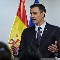 ראש ממשלת ספרד פדרו סנצ׳ז (צילום: AP Photo/Virginia Mayo)
