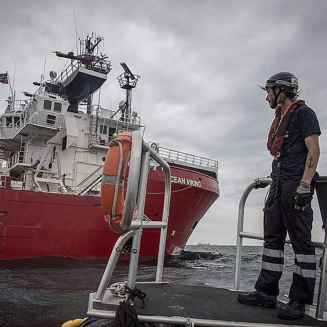 ספינת החילוץ Ocean Viking (צילום: אנתוני ג'ין\ SOS Mediterranee)