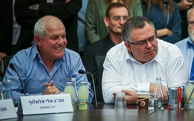 חיים כץ ודוד ביטן (צילום: Yonatan Sindel/Flash90)