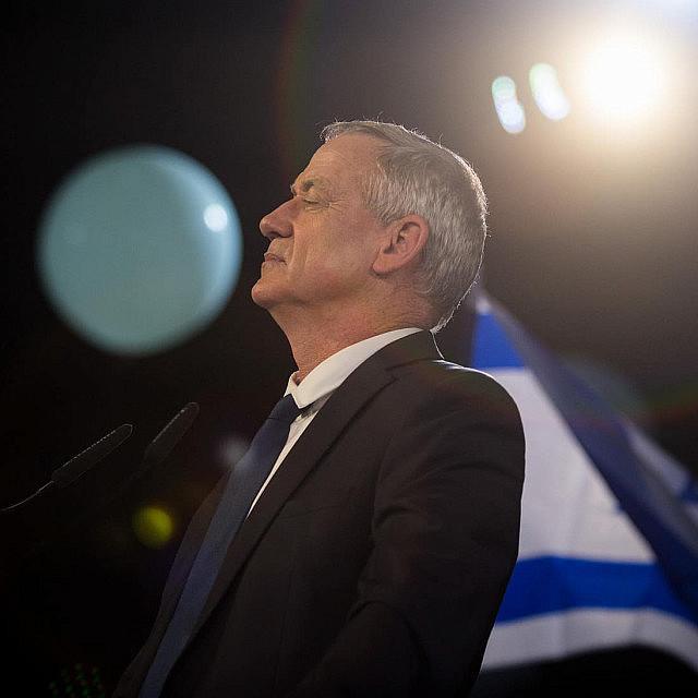 בני גנץ בארוע השקת מפלגת חוסן לישראל, ב-29 בינואר 2019 (צילום: הדס פרוש/פלאש90)