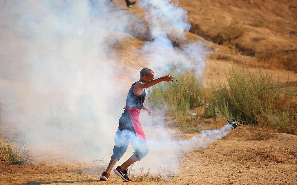 מהומות פרצו בגבול עזה, ליד סג׳עייה, ב-23 באוגוסט 2019 (צילום: Hassan Jedi/Flash90)