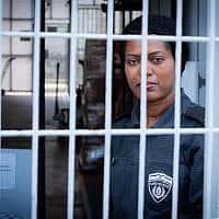 שוטרת שירות בתי הסוהר (צילום: Moshe Shai/Flash90)