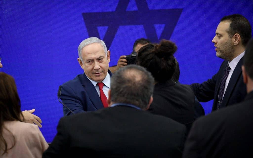 .נתניהו במהלך מסיבת העיתונאים בה הודיע כי יחיל את הריבונות על בקעת הירדן (צילום: פלאש90/הדס פרוש)