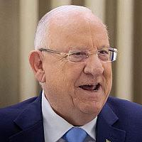 ראובן (רובי) ריבלין בבית הנשיא, ב-22 בספטמבר 2019 (צילום: יונתן סינדל/פלאש90)