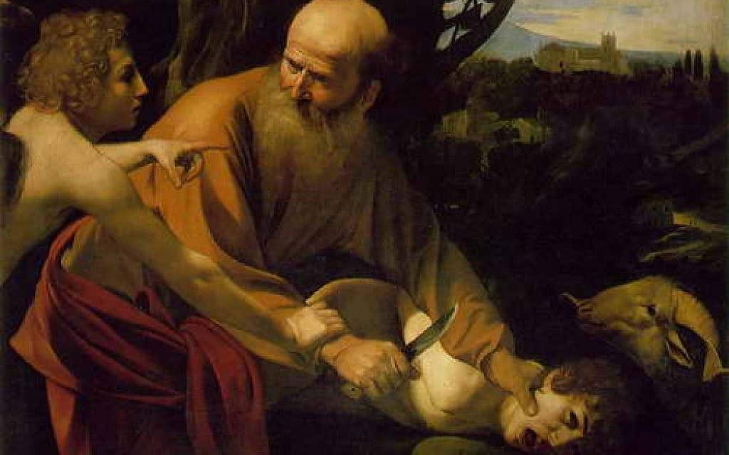עקידת יצחק, ציור: קרוואג'יו