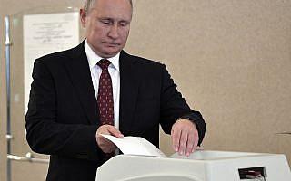 בחירות ברוסיה (צילום: Alexei Nikolsky, Sputnik, Kremlin Pool Photo via AP))