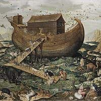 תיבת נוח על אררט, ציור: סימון דה מיל