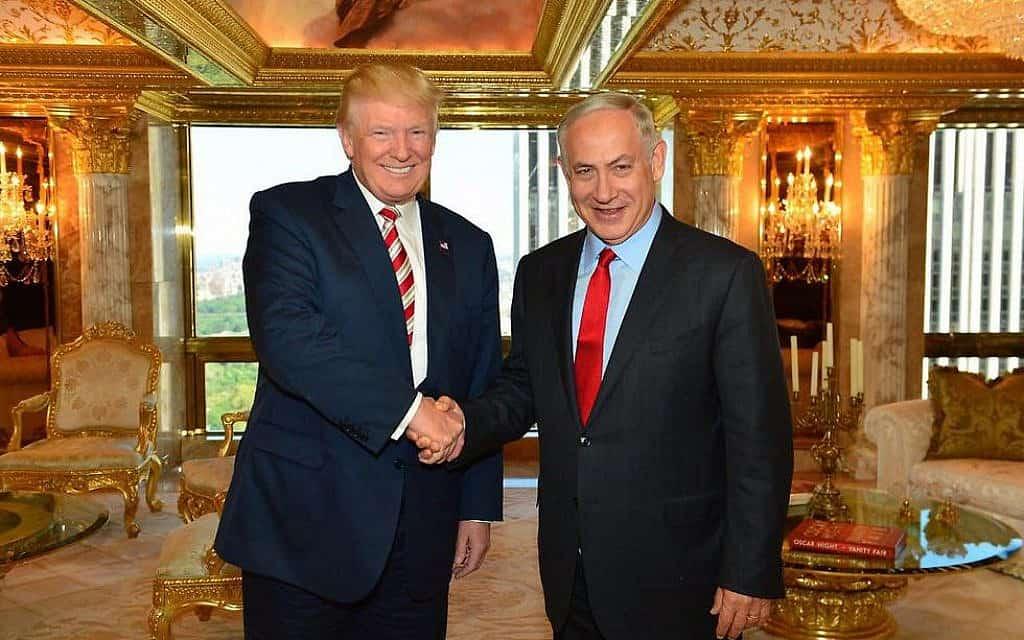 """בנימין נתניהו ודונלד טראמפ בבית הלבן (צילום: צילום: קובי גדעון, לע""""מ)"""