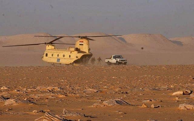 מדבר במערב מצרים, צילום אילוסטרציה (צילום: Egypt Army spokesman via AP)