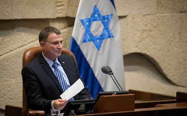 יושב ראש הכנסת, יולי אדלשטיין (צילום: יונתן זינדל, פלאש 90)