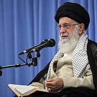 המנהיג העליון של אירן חמינאי (צילום: Office of the Iranian Supreme Leader via AP))