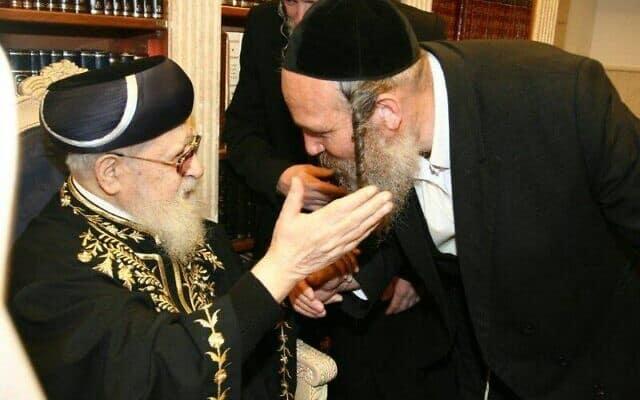 דודי זילברשלג עם הרב עובדיה יוסף (צילום: פייסבוק)