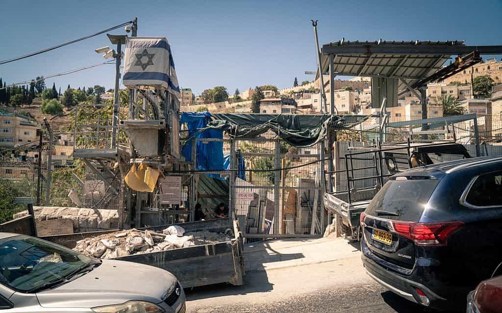 הכניסה לדרך עולי הרגל באתר הארכאולוגי בעיר דוד בירושלים, 24 בספטמבר 2019 (צילום: לוק טרס)
