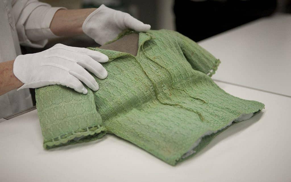 הסוודר הירוק של קריסטינה חיגר (צילום: באדיבות מוזיאון ארצות הברית לזכר השואה)