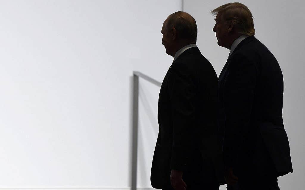 טראמפ ופוטין, יוני 2019 (צילום: AP Photo/Susan Walsh)