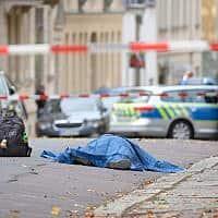 ארוע הפיגוע בהאלה, גרמניה. 9 באוקטובר 2019 (צילום: Sebastian Willnow/dpa vía AP)
