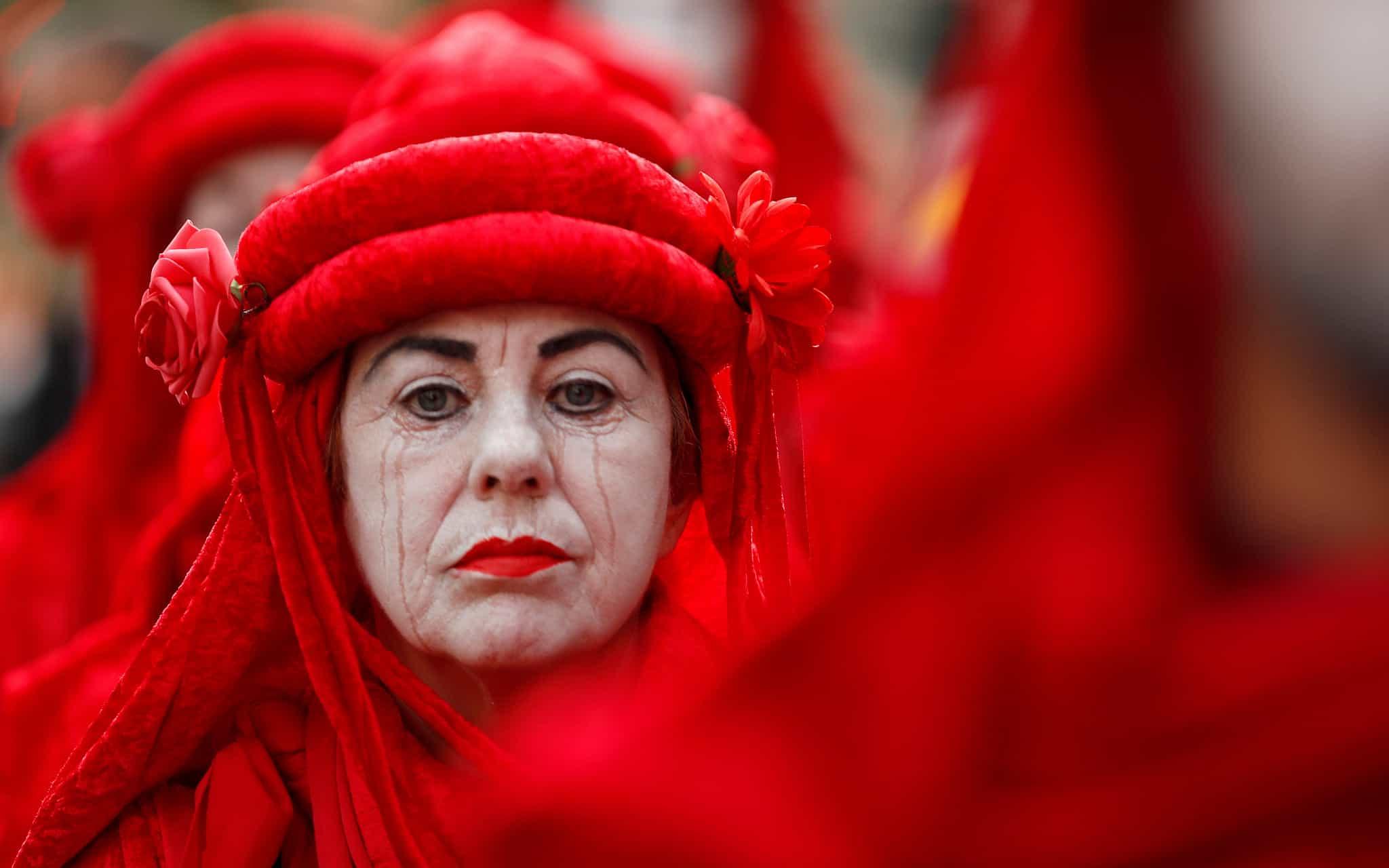 הפגנה של XR בלונדון, ב-9 באוקטובר 2019 (צילום: AP Photo/Frank Augstein)