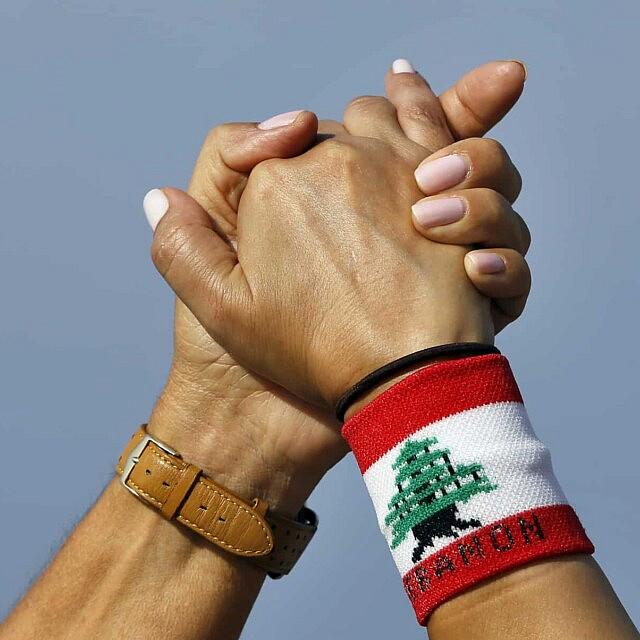 מחאה בלבנון, אוקטובר 2019 (צילום: AP Photo/Bilal Hussein)