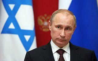 ולדימיר פוטין בעת ביקור בנימין נתניהו בקרמלין (צילום: Alexei Nikolsky, Presidential Press Service)