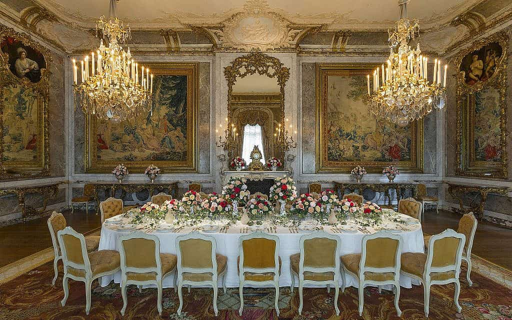 חדר אוכל בטירת ואדסדון (צילום: כריס לייסי (c) הקרן הלאומית, טירת ואדסדון)