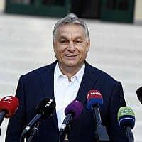 ראש ממשלת הונגריה ויקטור אורבן (צילום: Szilard Koszticsak/MTI via AP)