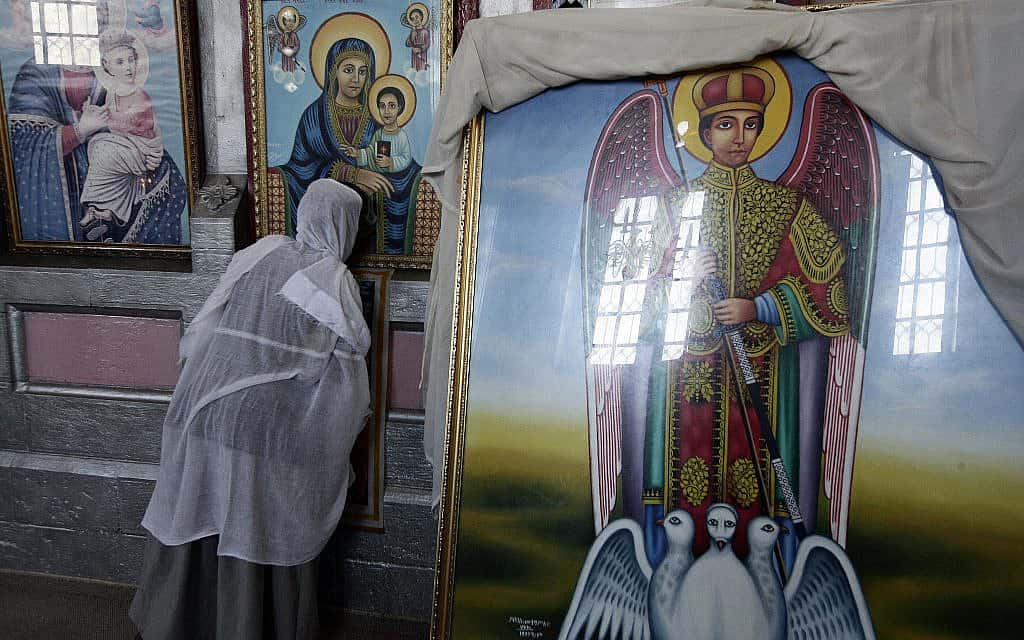 הכנסייה האתיופית בירושלים (צילום: Abir Sultan/Flash 90)