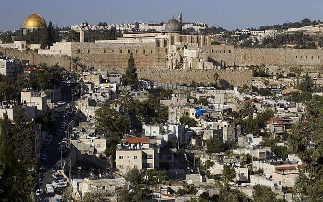 מבט לעיר דוד משכונת סילוואן, ארכיון (צילום: Miriam Alster/Flash90)