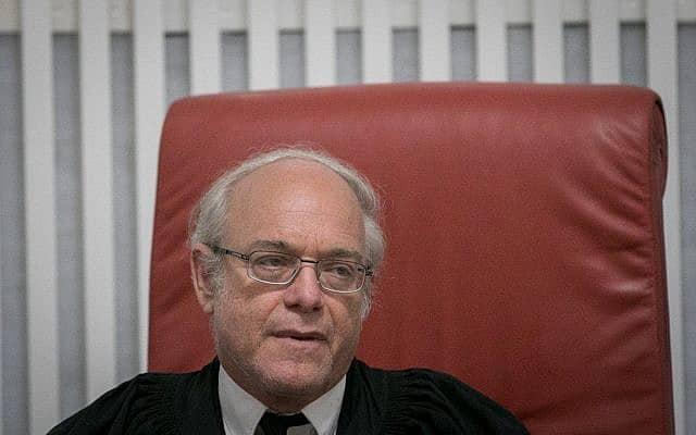 שופט בית המשפט העליון ניל הנדל, 25 ביולי 2018 (צילום: צילום: יונתן זינדל/פלאש90)