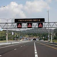 חלקו הצפוני של כביש 6. התאונה היום אירעה ליד מחלף בן שמן (צילום: ענת חרמוני / פלאש 90)