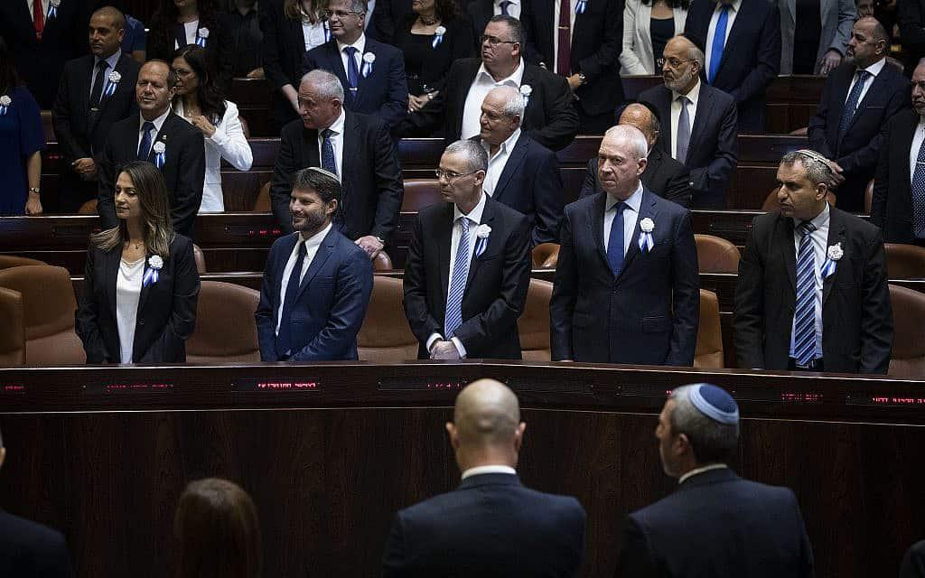 חברי הכנסת ה-22 בהשבעת הכנסת, 3 באוקטובר 2019 (צילום: הדס פרוש/פלאש90)