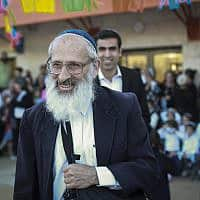 הרב שלמה אבינר בבית אל (צילום: Hadas Parush-Flash 90)