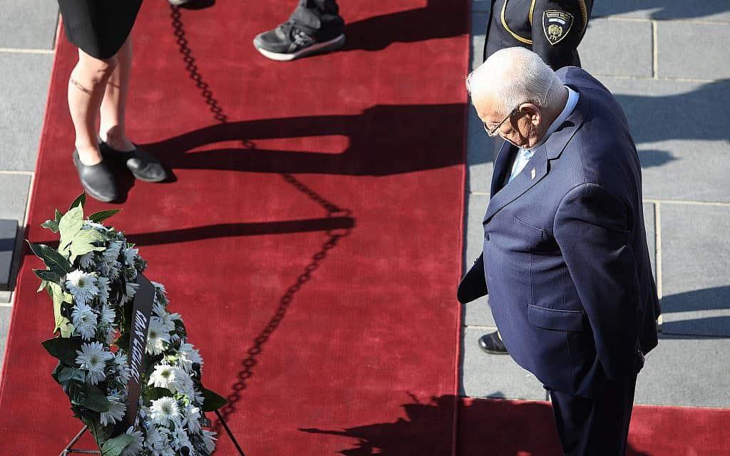 נשיא המדינה ראובן ריבלין בהשבעת הכנסת ה-22 (צילום: דוברות הכנסת)