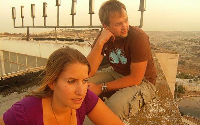 רייצ'ל קרוטי וסרגיוז שלר בירושלים, 2010 (צילום: באדיבות המרואיינת)